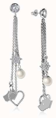 Radley Jewellery Silver Multi Charm Drop Earrings RYJ1047