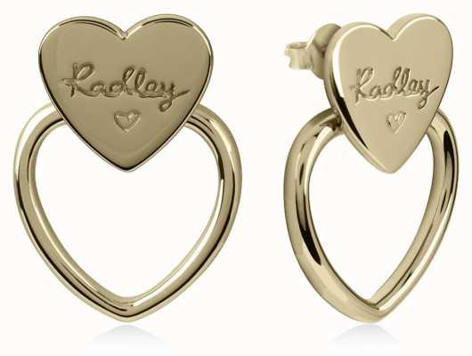 Radley Jewellery Gold Plated Silver Double Heart Stud Earrings RYJ1038