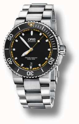 Oris Aquis Date Automatic Stainless Steel Bracelet Black Dial 01 733 7653 4127-07 8 26 01PEB