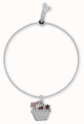Radley Jewellery Silver Dog In Bag Friendship Bracelet RYJ3031