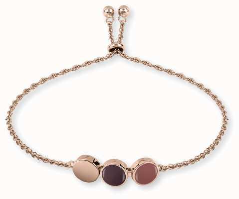 Radley Jewellery Rose Gold Plated Silver Enamel Drop Bracelet RYJ3028