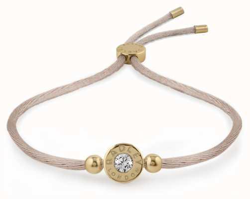 Radley Jewellery Gold/mink Plated Silver Stone Set Friendship Bracelet RYJ3018