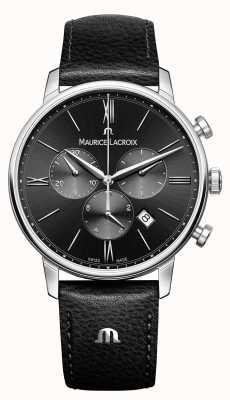Maurice Lacroix Eliros Chronograph Mens Black Dial EL1098-SS001-310-1