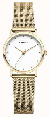 Bering Ladies Classic Watch Gold Mesh 13426-334