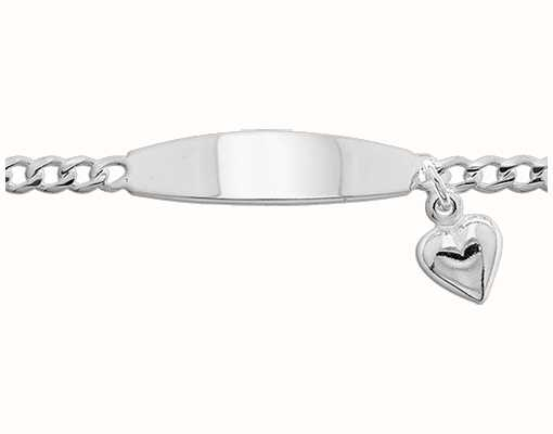 Treasure House Silver Baby Heart Charm ID Bracelet G2100