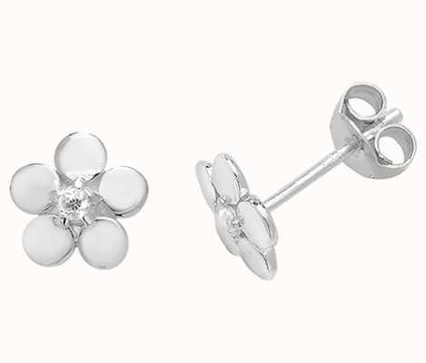 Treasure House Silver Flower Stud Earrings G51053