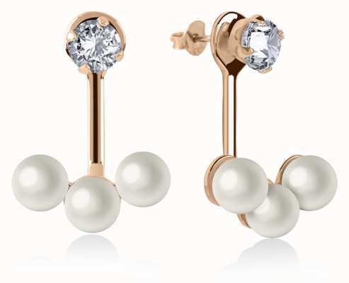 Radley Jewellery Rose Gold Plated Silver Triple Pearl Earrings RYJ1044