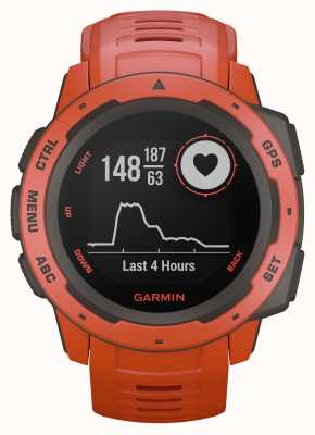Garmin Instinct Flame Red Outdoor GPS Silicone Strap 010-02064-02