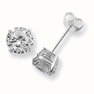 Treasure House Silver Cubic Zirconia Stud Earrings 7 mm G5137CZ