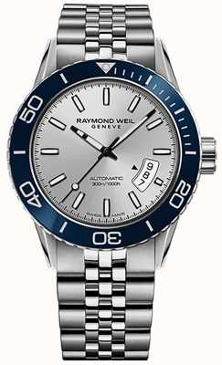 Raymond Weil Mens Freelancer Automatic Diver Stainless Steel Bracelet 2760-ST4-65001