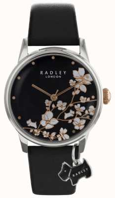 Radley Radley Ladies | Flower Print | Black Dial | Leather Strap RY2687