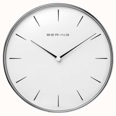 Bering Stainless Steel White Dial Wall Clock 90292-04R