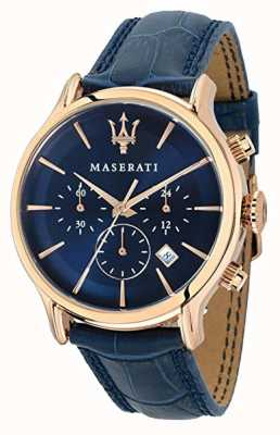 Maserati Mens Epoca 42mm | Blue Dial | Blue Leather Strap R8871618007
