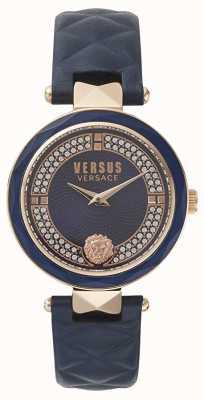 Versus Versace Womens Covent Garden | Blue Swarovski Dial | Blue Leather VSPCD2817