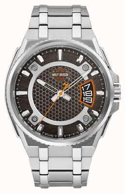 Harley Davidson Men Only Time Stainless Steel Bracelet 76B180