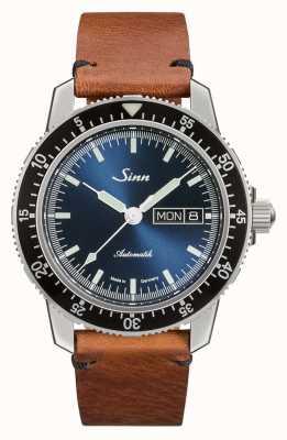 Sinn 104 St Sa I B   Vintage Brown Leather Strap 104.013 VINTAGE BROWN LEATHER