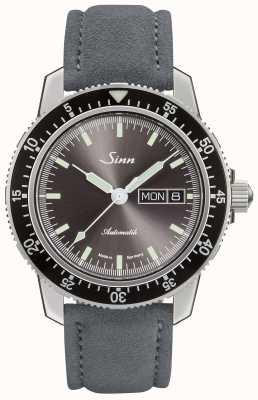 Sinn 104 St Sa I A | Suede Grey Leather Strap 104.014 SUEDE GREY