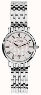 Michel Herbelin Womens Epsilon | White Dial | Stainless Steel Bracelet 16945/B01