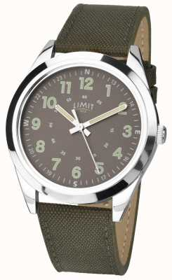Limit Gents | Military Style Watch |Khaki Green Strap & Green Dial 5951