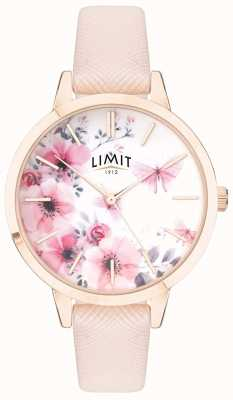 Limit | Womens Secret Garden | Pink&White Floral Dial | Pink Strp 60023