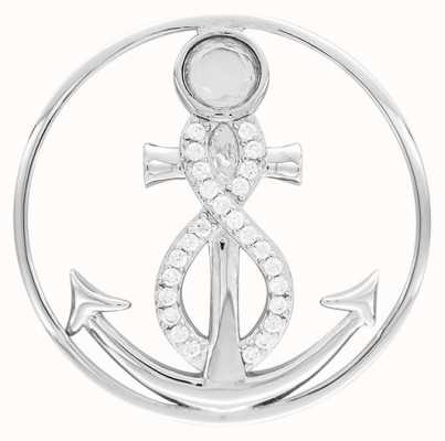 "MY iMenso ""INFINITY ANCHOR"" FANTASY CZ 33MM INSIGNIA (925/RHOD-PLATED) 33-1421"