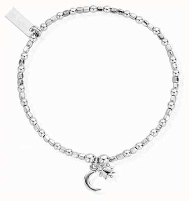ChloBo Women's | Mini Cube Dainty Moon And Sun | Bracelet SBCFB582