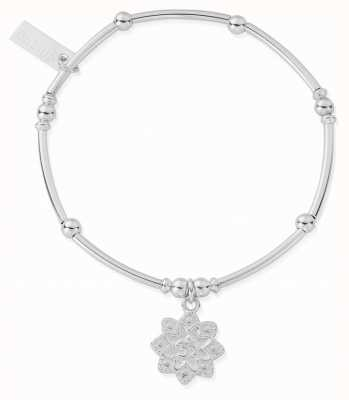 ChloBo Womens | Mini Noodle Ball Flower Om | Bracelet SBMNB693
