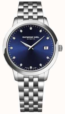 Raymond Weil Womens Toccata | Blue Dial | Stainless Steel Bracelet 5988-ST-50081
