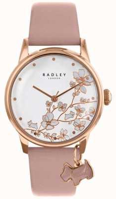 Radley Womens | Trailing Flower | Pink Leather Strap RY2692