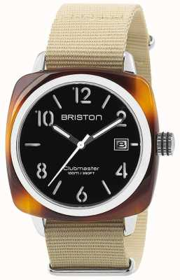 Briston HMS Date Steel 40 Tortoise Acetate Black Dial 13240.SA.T.1.NK