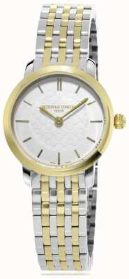 Frederique Constant | Womens | Two Tone Slimline | Metal Watch | FC-200WHS3B