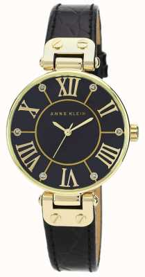 Anne Klein | Womens Signature Watch | Black And Gold | AK/N1396BMBK