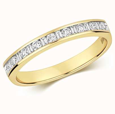 Treasure House 9k Yellow Gold Diamond Half Eternity Ring RD185