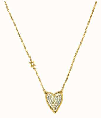 """Adore By Swarovski Pointed Heart Necklace 16-18"""" Gold Plated 5303078"""