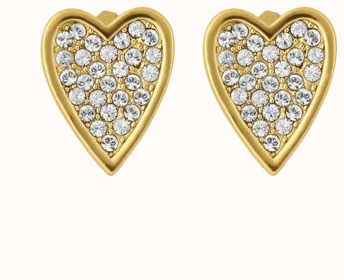 Adore By Swarovski Pointed Heart Earrings Gold 5303089