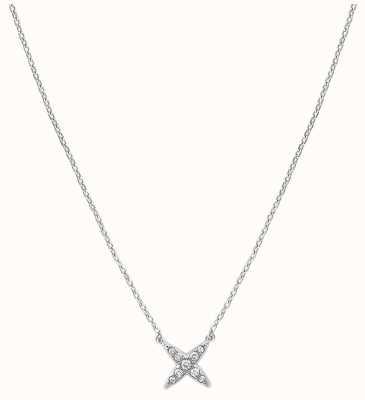 "Adore By Swarovski 4 Point Star Necklace 16-18"" Rhodium Plated 5259847"