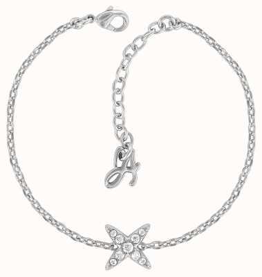 "Adore By Swarovski 4 Point Star Bracelet 6.5-8"" Rhodium Plated 5259853"