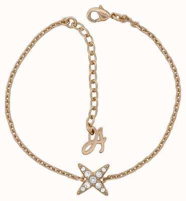 "Adore By Swarovski 4 Point Star Bracelet 6.5-8"" Rose Gold Plated 5303131"