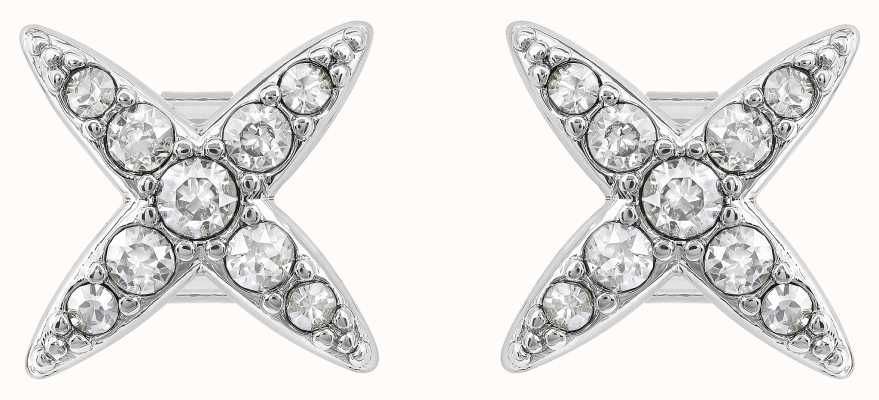 Adore By Swarovski 4 Point Star Earrings Rhodium Plated 5259857
