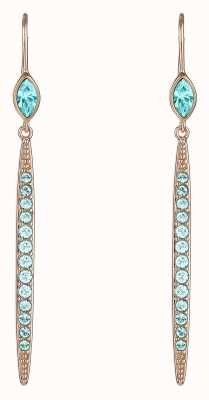 Adore By Swarovski Linear Bar French Wire Earrings Rose Gold Plated 5419399