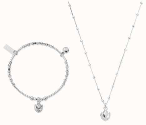 ChloBo | Silver Beautiful Soul Set | Necklace & Bangle SBNVAL19