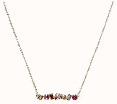 """Adore By Swarovski Mixed Crystal Bar Necklace 16-18"""" Rose Gold Plated 5375515"""