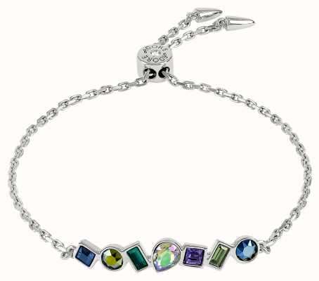 Adore By Swarovski Mixed Crystal Bar Bracelet Silver Adjustable 5375517