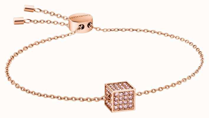 Calvin Klein   Womens Rocking   Rose Gold Bracelet   Swarovski   KJ9CPB140100