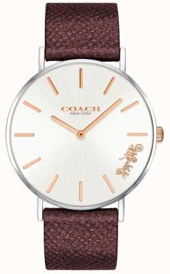 Coach   Womens Perry Watch   Red Leather Strap   14503154