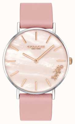 Coach | Womens Perry Watch | Pink Leather Strap | 14503244