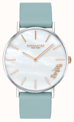 Coach | Womens Perry Watch | Teal Leather Strap White Dial | 14503271