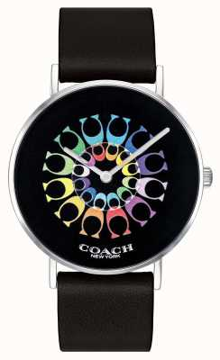 Coach | Womens Perry Watch | Black Leather Strap Black Dial | 14503289