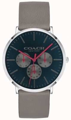 Coach | Mens Varick Watch | Chronograph Beige Strap Black Dial | 14602390