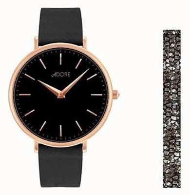 Adore By Swarovski Adore Holiday Signature Black Watch Gift Set 5459990